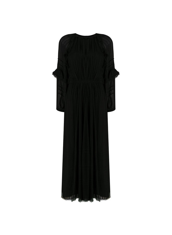 Long Dress with Vintage Ruffles