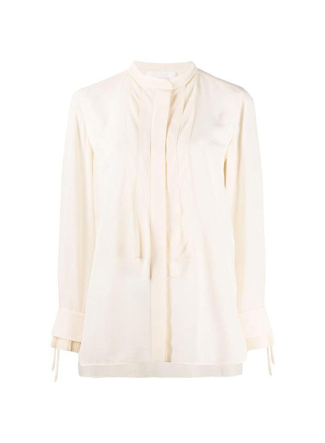 Long Sleeve Blouse in Buttercream