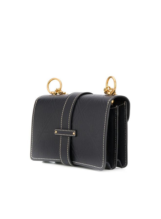 Aby Chain Medium Shoulder Bag in Full Blue