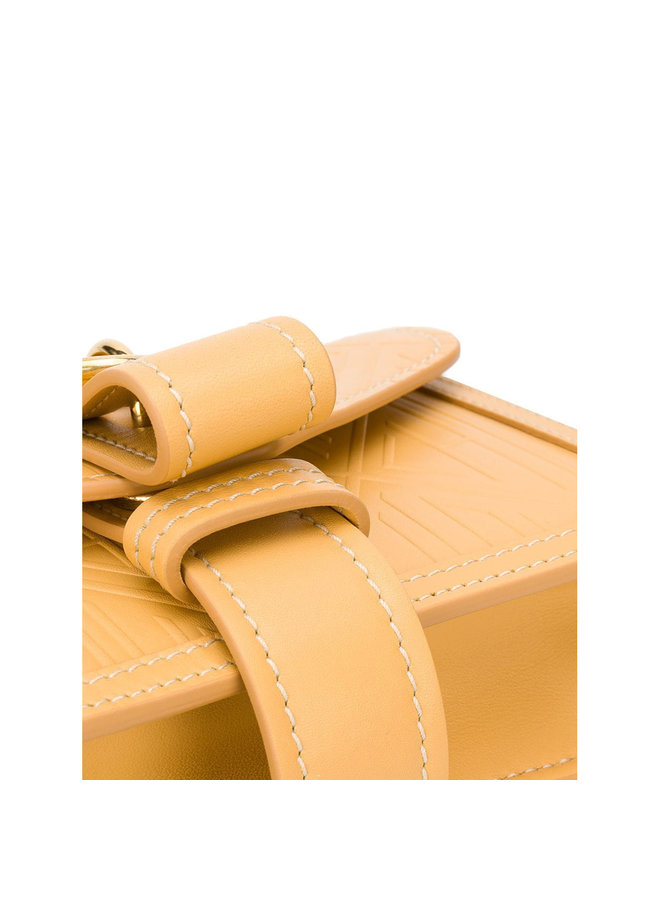 Aby Chain Small Shoulder Bag in Honey Gold