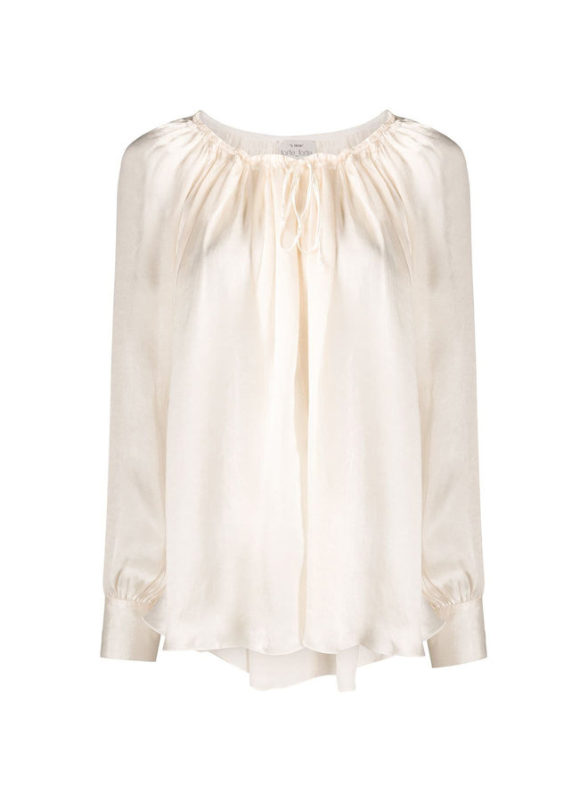 Long sleeve Blouse in Off-White