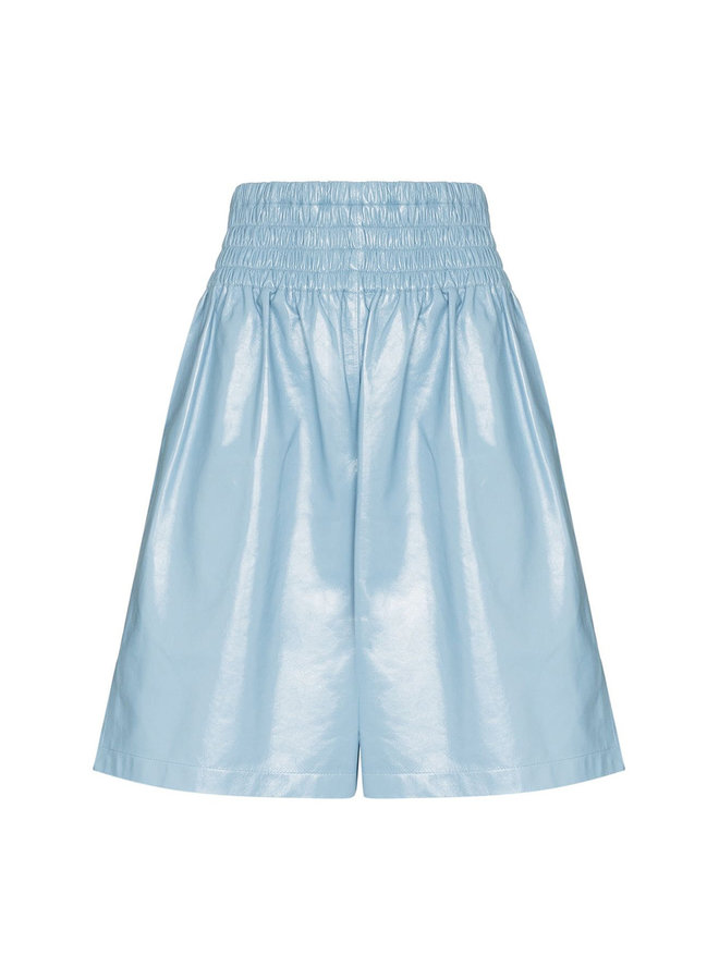 Boxer Shorts in Shiny Leather in Ice