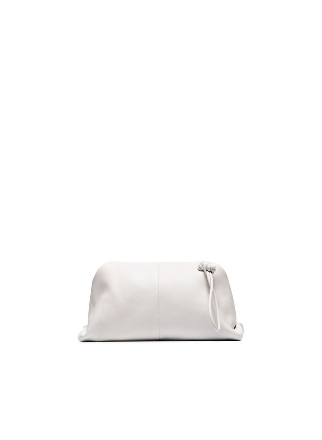 Envelope Triangle Shape Pouch in White