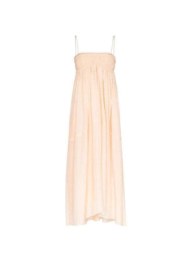 Long Silk Dress in Tender Peach