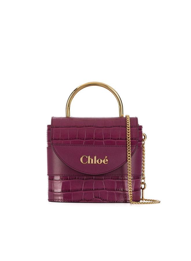 Aby Lock Bag in Embossed Croco