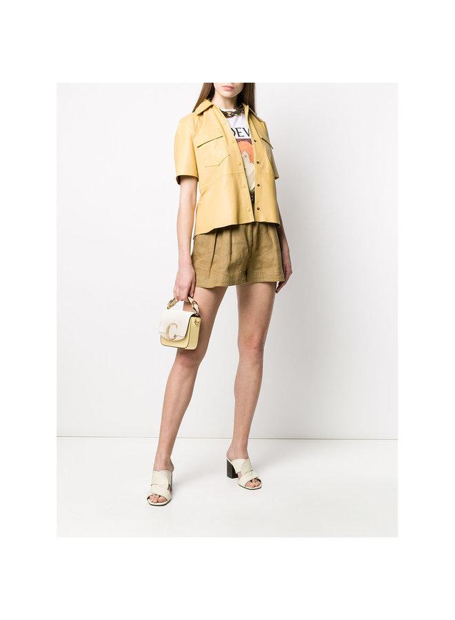 C Mini Shoulder Bag in Tricolor In Yellow