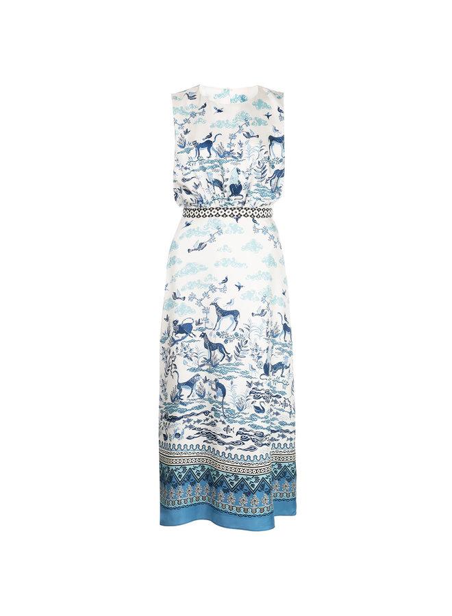 Fleur Midi Printed Dress