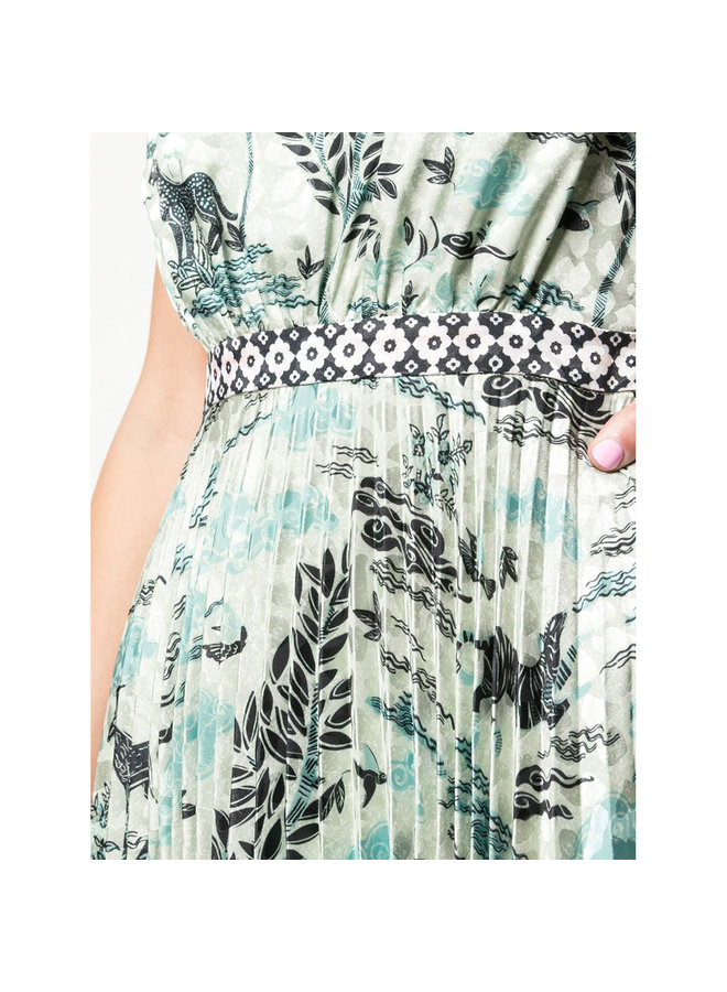 Fleur Midi Dress in Safari Print