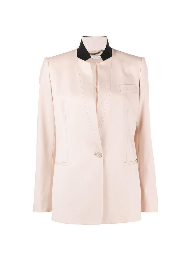 Classic Tailoring Blazer Jacket in Oat