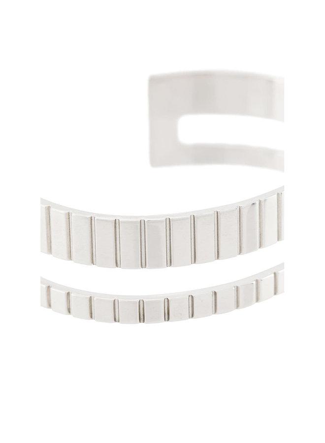 17mm Slot Cuff in Silver