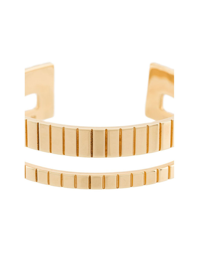 Slot Cuff in Gold