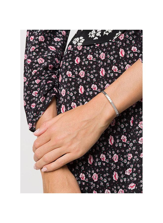Single Slot Cuff Bracelet In Silver