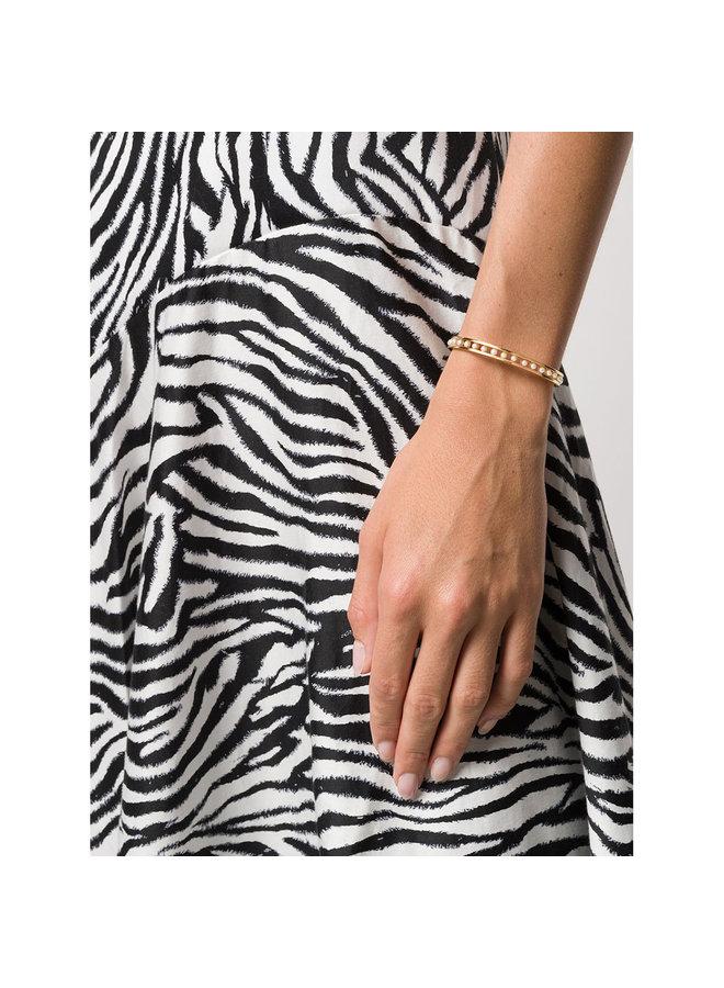 Skinny Tiger Pearl Cuff in Gold