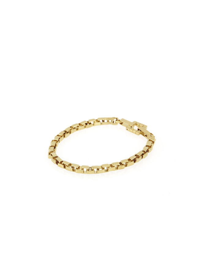 Signore 5x5 Chain Bracelet in Gold