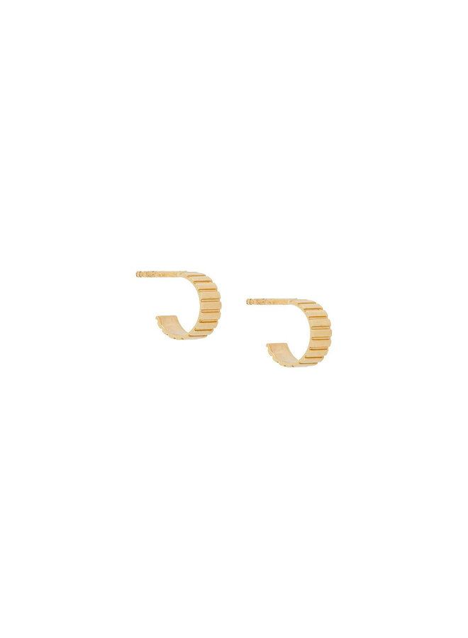 Mini Single Slot Hoop Earrings