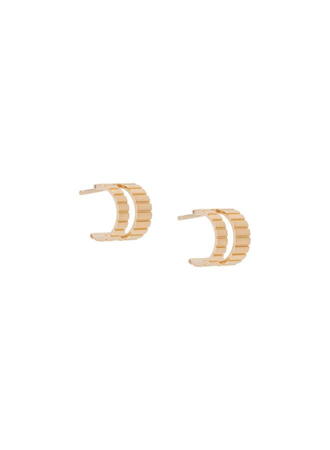 Mini Slot Hoop Earrings