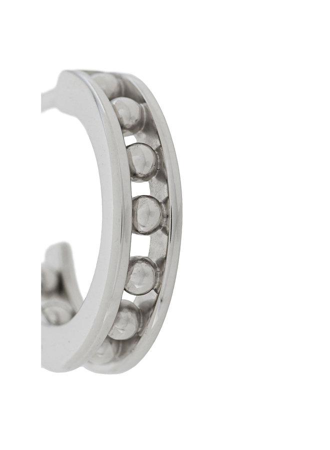 Tiger Mini Hoop Earrings in Silver