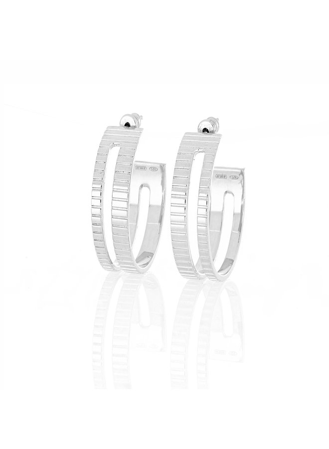 Slot Hoops in Silver
