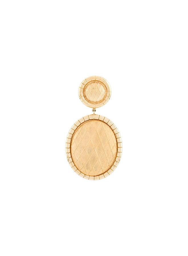 Signora Oval Drop Earrings