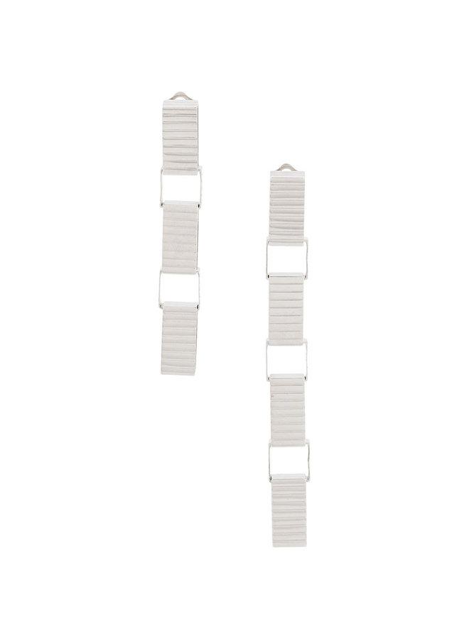 Signore 10 Chain Drop Earrings in Silver
