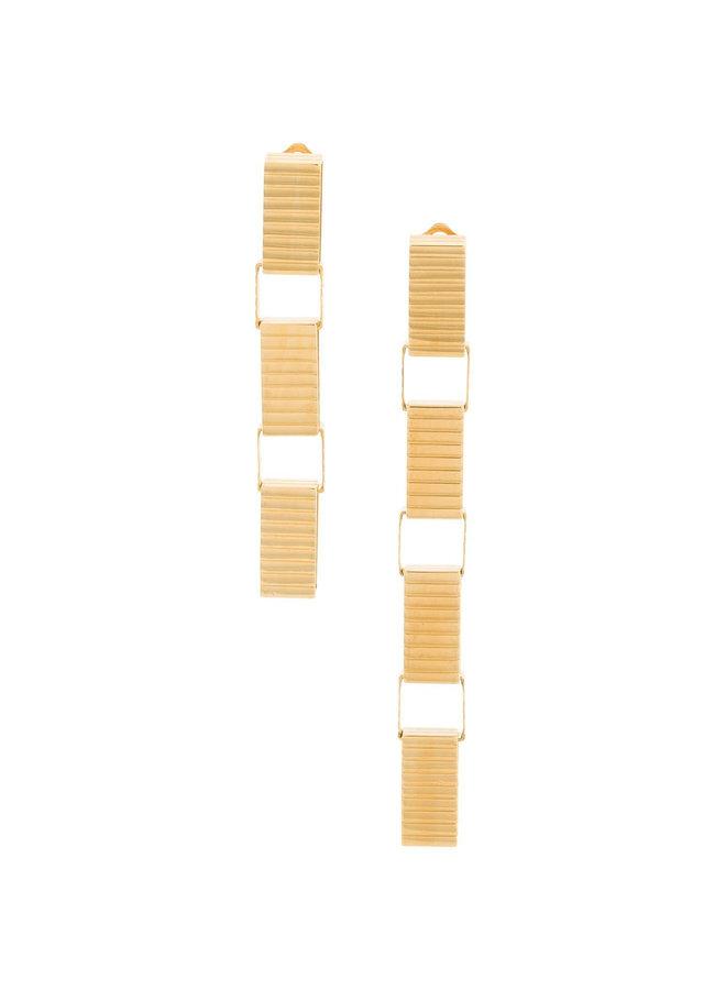 Signore 10 Chain Drop Earrings in Gold