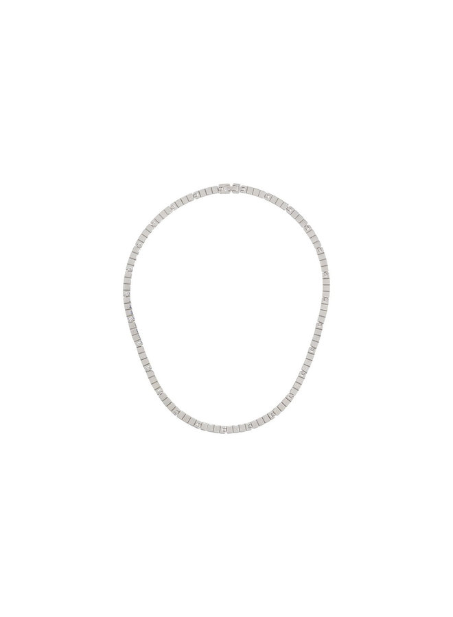 Slot Chain Princess Necklace in Silver