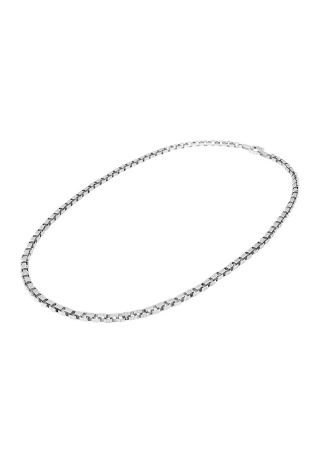 Signore 5x5 Chain Opera Necklace in Silver