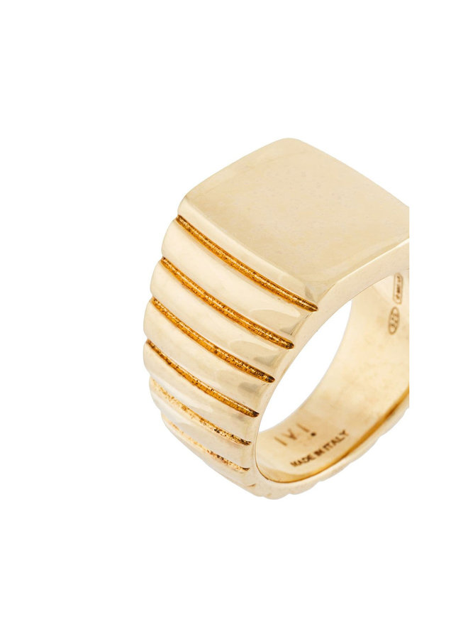 Signore Rectangular Signet Ring in Gold