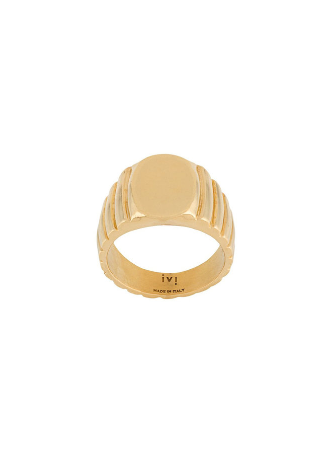 Signore Oval Signet Ring in Gold