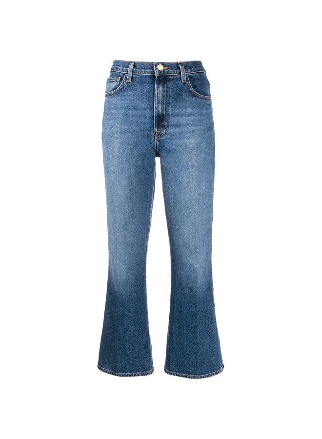 Julia High Rise Flare Jeans in Blue