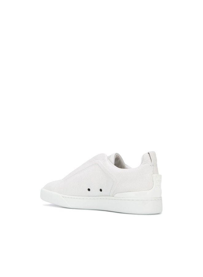 Zegna Couture Tripple Stich Sneakers In White