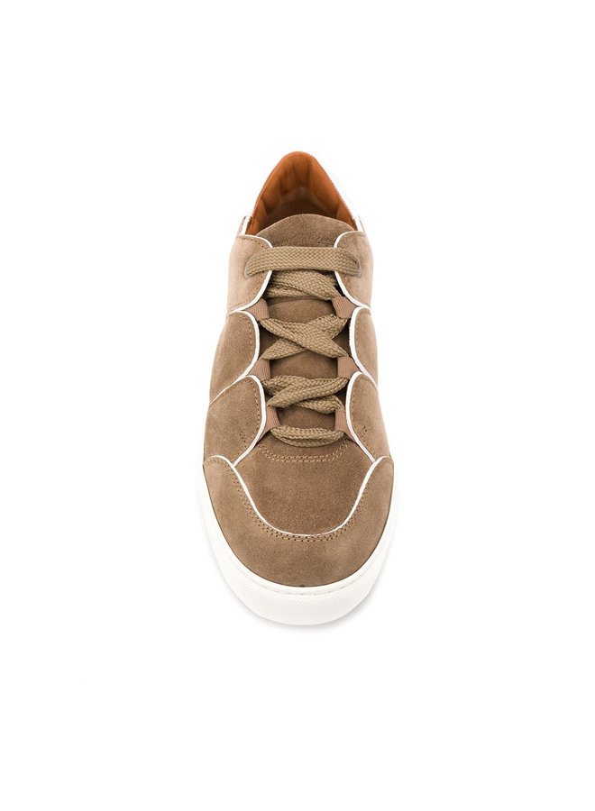 Zegna Couture Tiziano Suede Sneakers In Beige