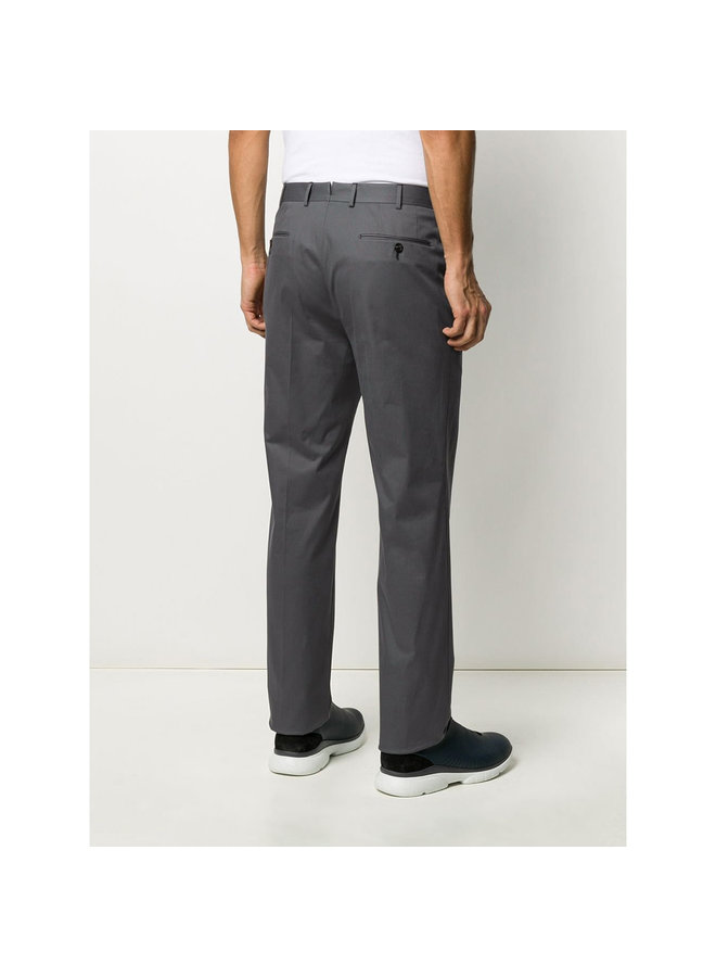 Premium Cotton Pant In Lead Grey