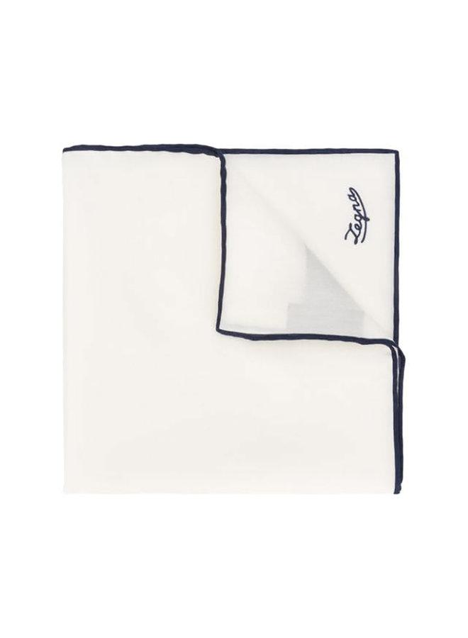 Cotton Bi color Pochette In White/Blue