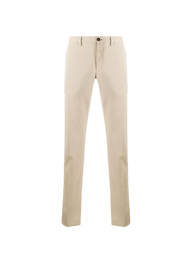 Slim Fit Soft Cotton Pant In Beige