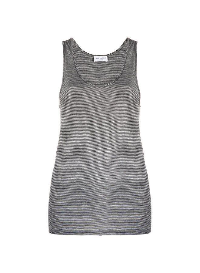 Decollete Tank Top in Grey