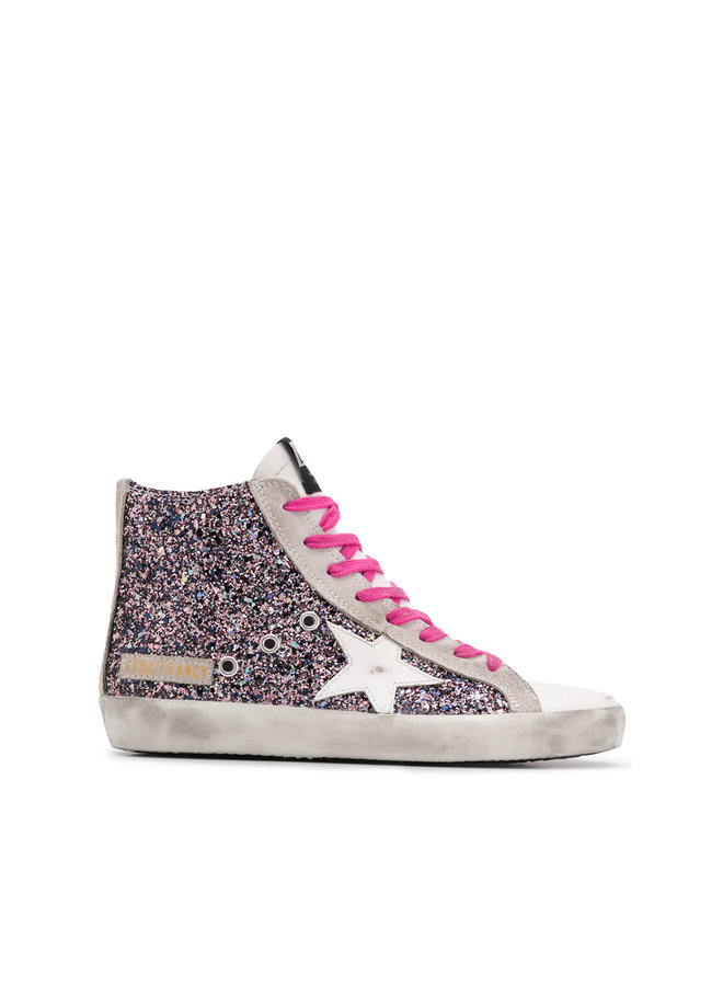 Francy Sneakers in Pink Glitter