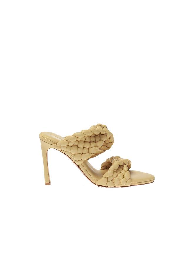 High Heel Twist Sandal in Intrecciato