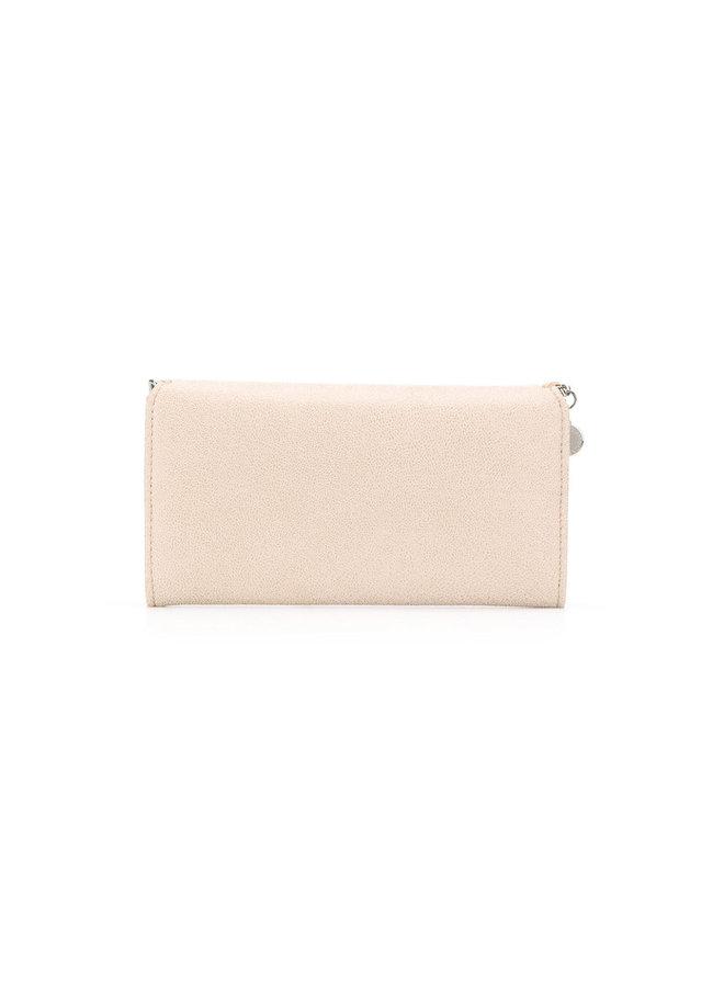 Falabella Continental Flap Wallet in Avorio
