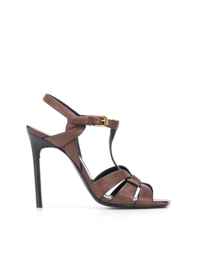 Tribute High Heel Sandal in Leather