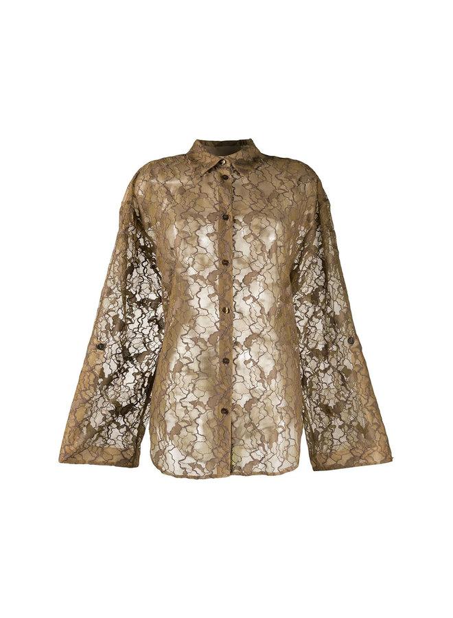 Long Sleeve Shirt in Sheer Lace