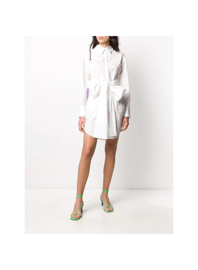 Mini Shirt/Dress with Belt in White