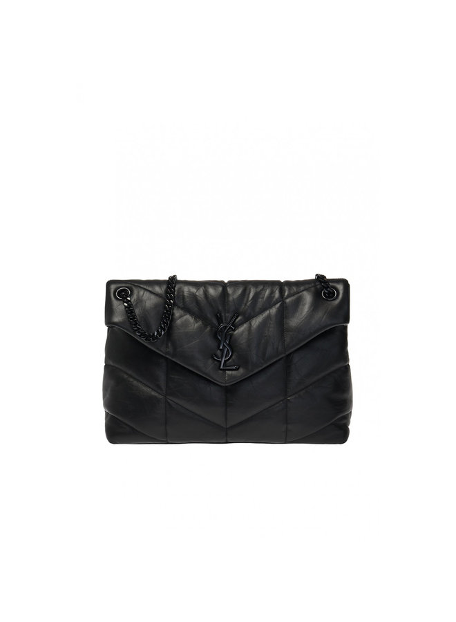 Loulou Medium Puff Shoulder Bag in Leather