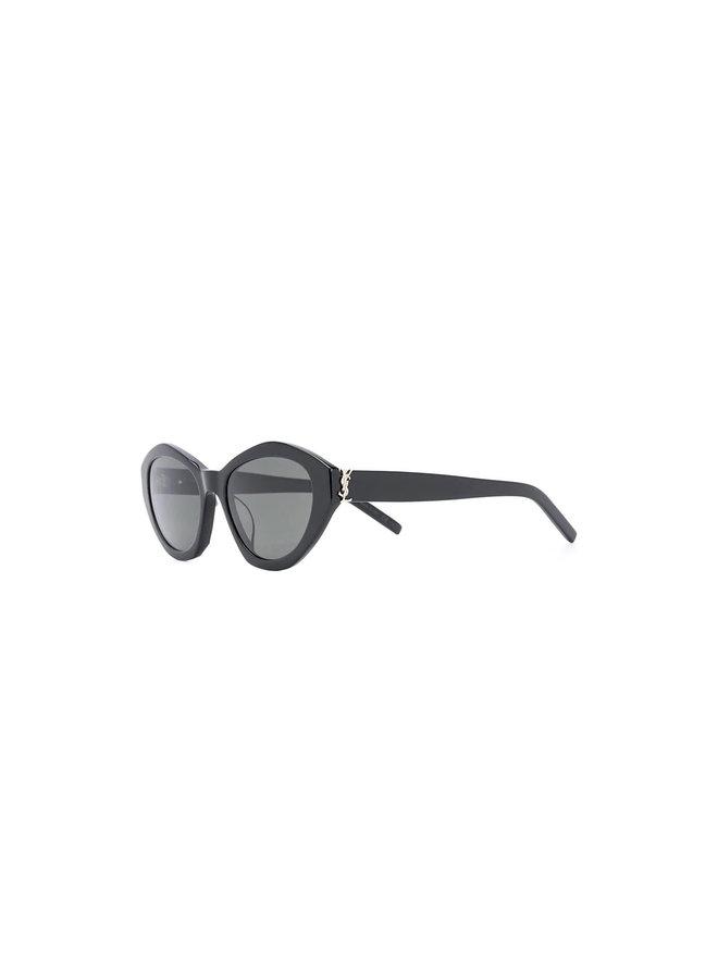 Round Frame Sunglasses in Black/Grey