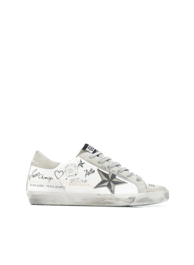 Superstar Sneakers in Graffiti Leather