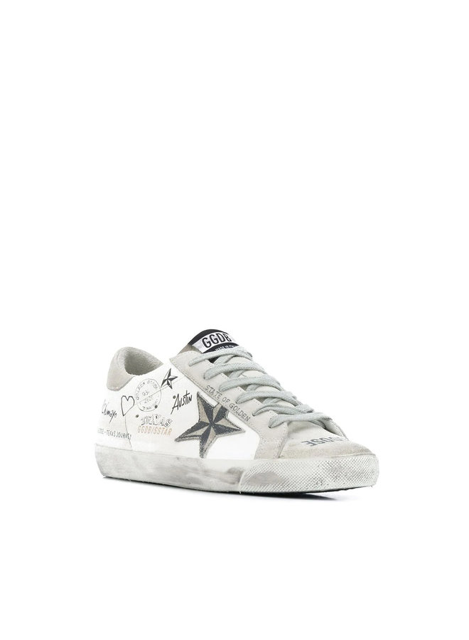 Superstar Sneakers in Graffiti Leather in White