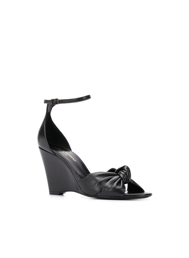 Lila High Heel Wedges in Black