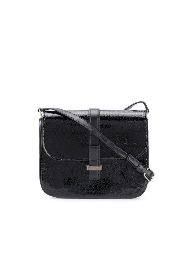 Ysl Logo Small Besace Crossbody Bag in Black