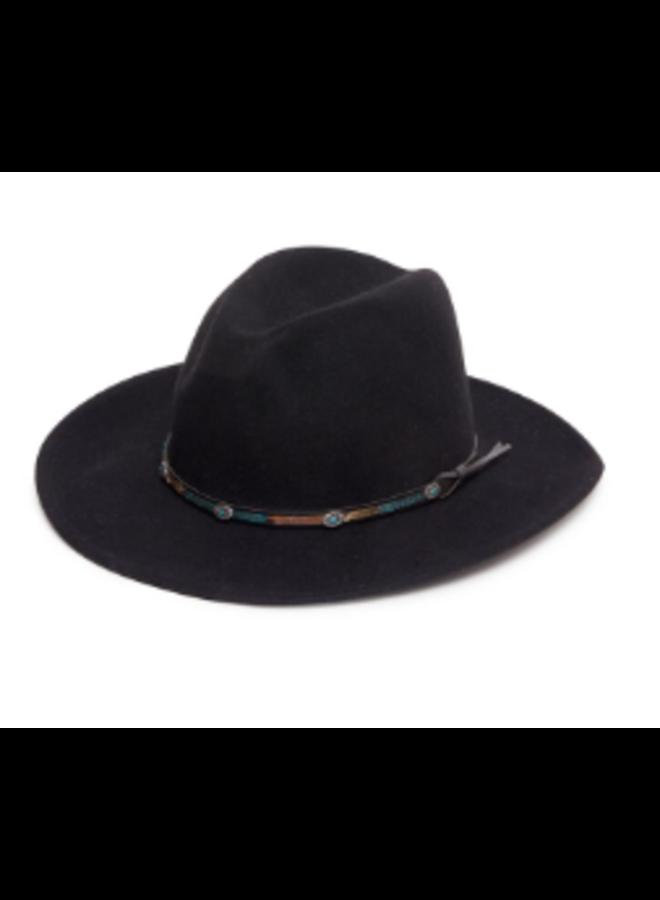 Jessie Western Denver Hat, Western Style, In Black