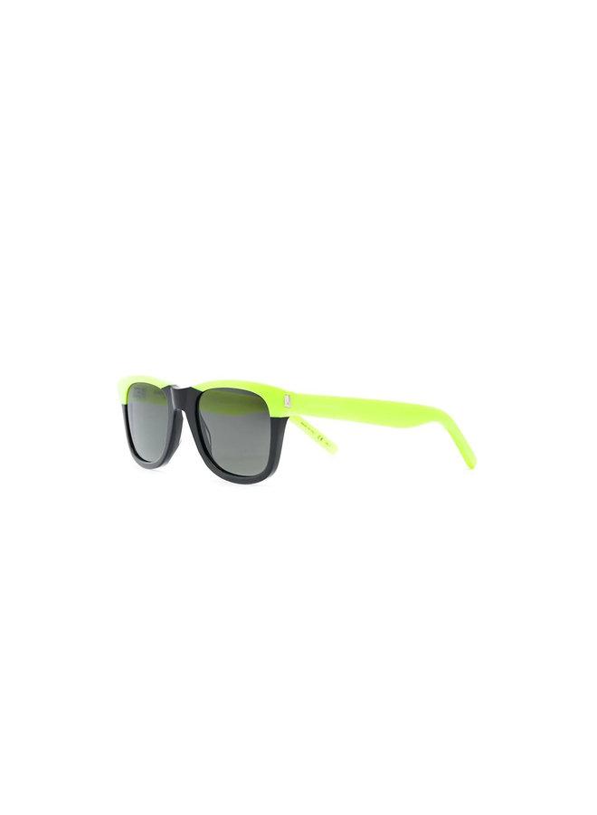 Saint Laurent D-Frame Sunglasses, Classic 51, Blk/Neon Yellow